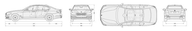 BMW-5series-sedan-technical-data-dimensions